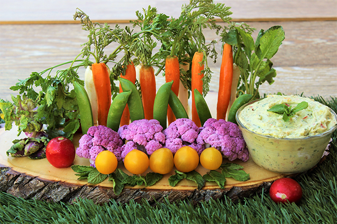 Vegetable Garden and Creamy Avocado Garden Dip