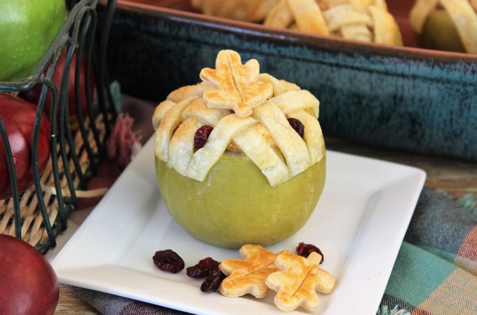 Cranberry Apple Pie Baked Apples