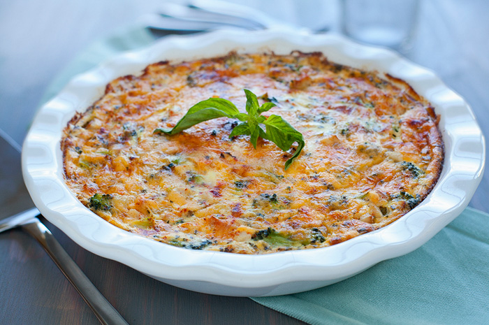 Turkey and Broccoli Crustless Quiche