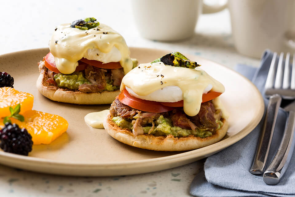 Brown Butter and Jalapeño Eggs Benedict