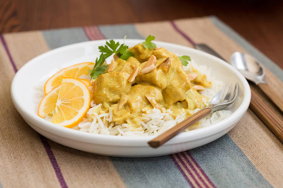 Chicken Curry with Toasted Almonds