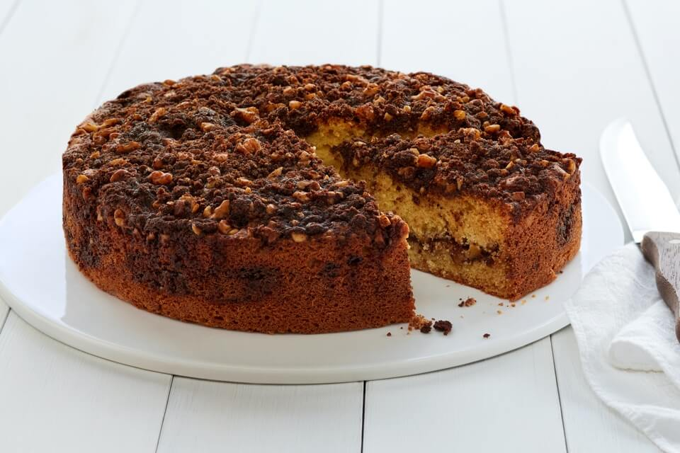 Coffee Cake with Chocolate Apricot Filling