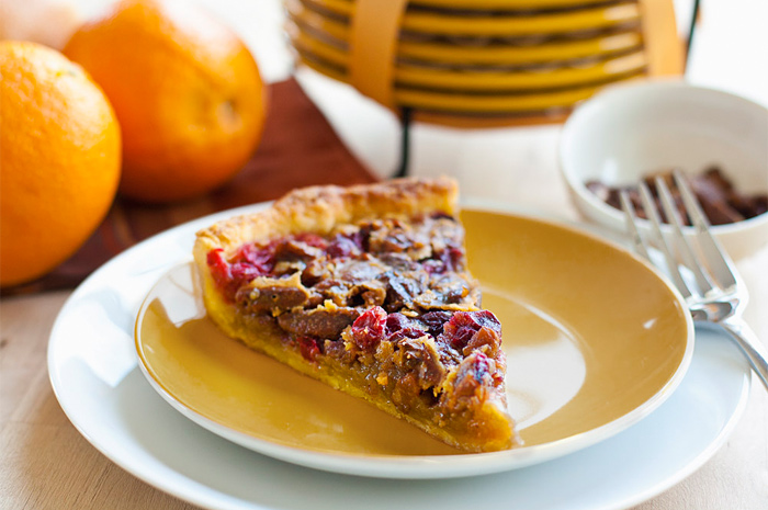 Cranberry Pecan Tart with Orange Pastry Crust