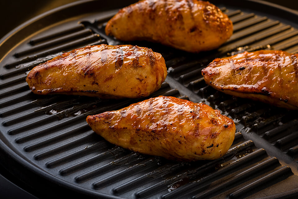 Grilled Breast of Chicken with Apricot Mustard Sauce