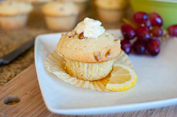 Fresh Ginger Muffins with Lemon Butter