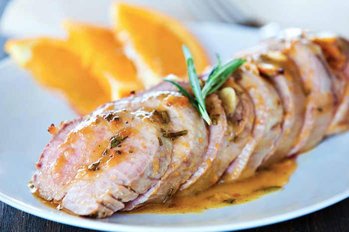 Orange-Rosemary Butter Glazed Pork Tenderloins