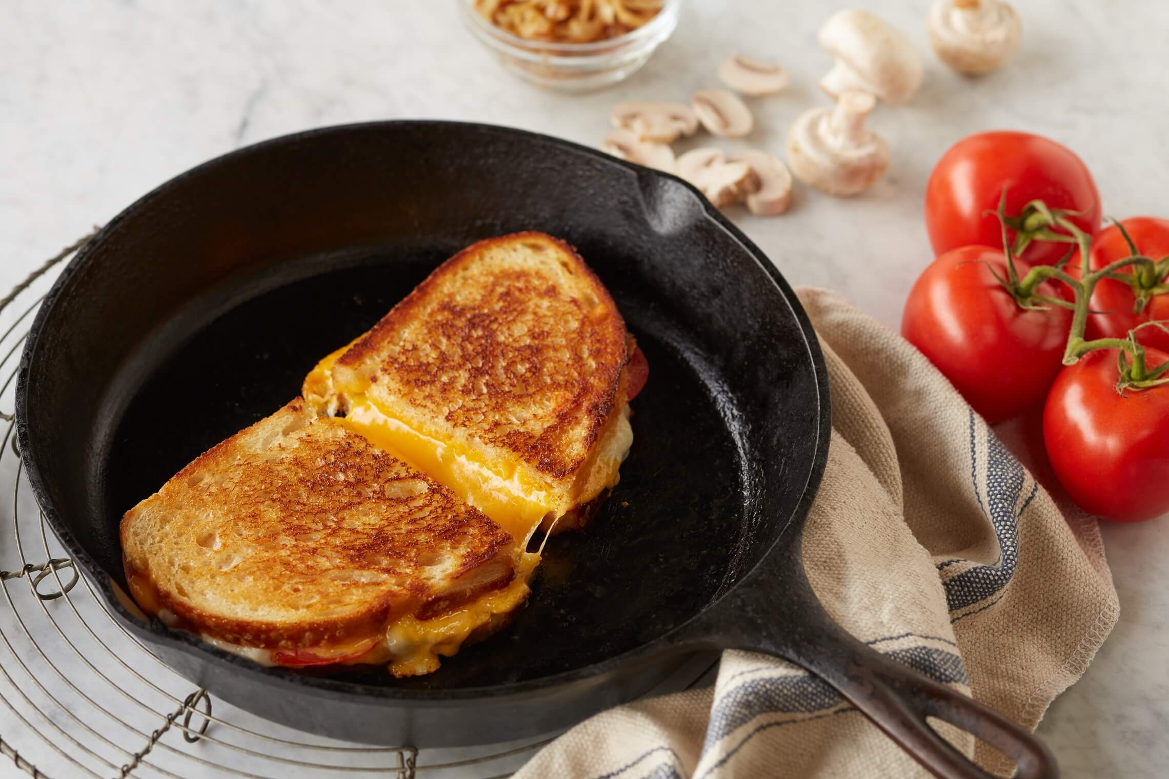Perfect Cast Iron Grilled Cheese