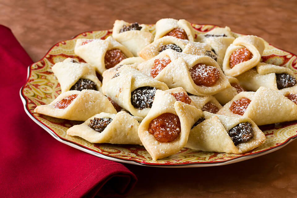 Polish Kolachki Cookies with Apricot Filling