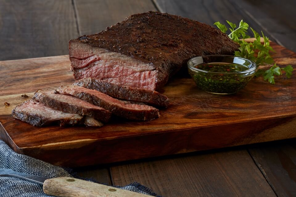 Santa Maria Style BBQ Tri-Tip with Chimichurri Butter