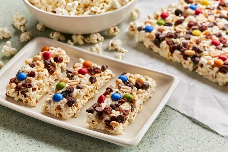 Trail Mix Popcorn Bars