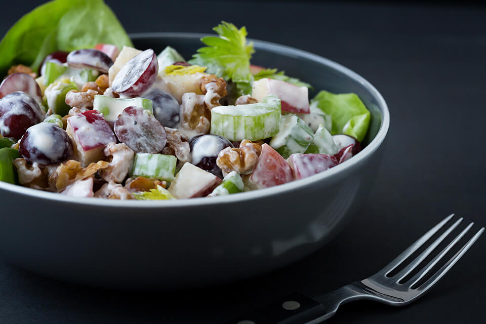 Waldorf Salad with Cream Cheese Dressing